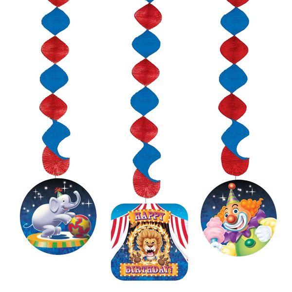 Big Top Circus Party Danging Cutouts