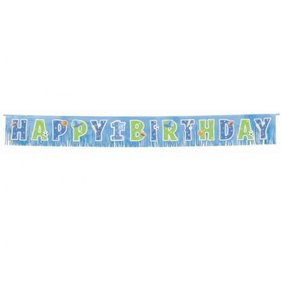 First Birthday All Star Fringe Banner