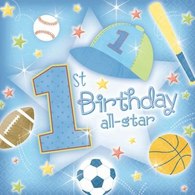 First Birthday All Star Luncheon Napkins - Pack of 36