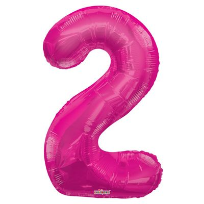 Hot Pink Foil Balloon - Age 2