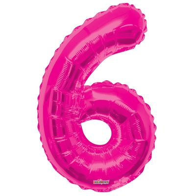 Hot Pink Foil Balloon - Age 6