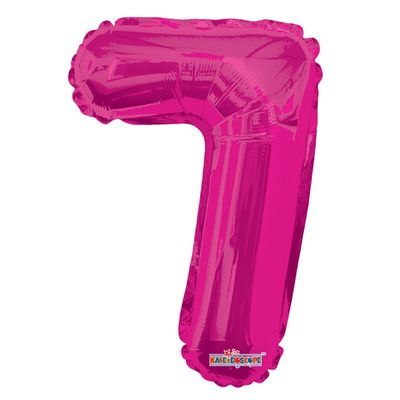 Hot Pink Foil Balloon - Age 7 - 14Inch