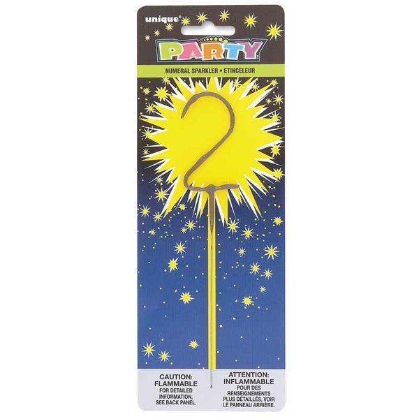 Number 2 Sparkler Candle