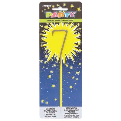 Number 7 Sparkler Candle