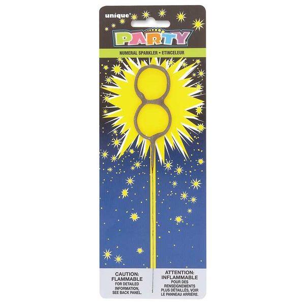 Number 8 Sparkler Candle