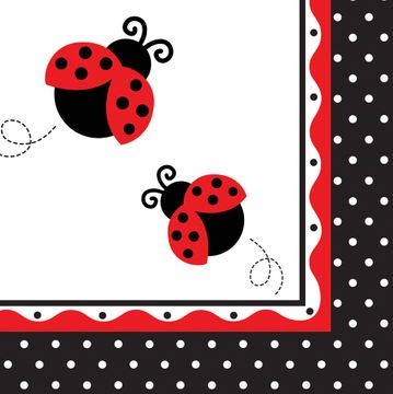 Ladybird Lunch Napkin