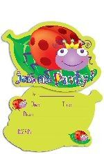Ladybird Party Shaped Invites
