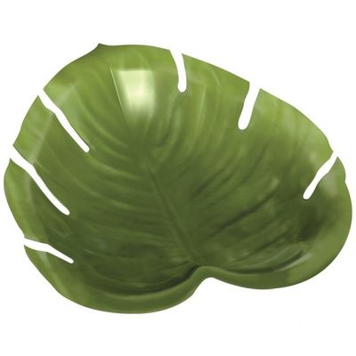 Large Plastic Jungle Leaf Platter