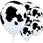 Latex Balloons - Cow Print
