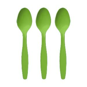 Lime Green Party Spoons