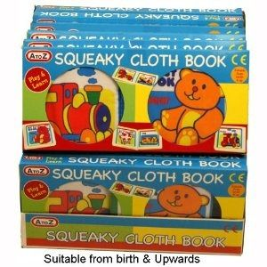 Squeaky Cloth Book - Special price