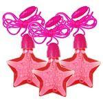 Star Bubble Necklaces - 4 Pack