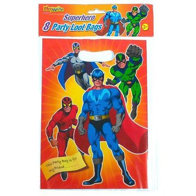 Super Hero Loot Bags x8