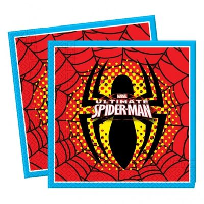 Ultimate Spiderman Party Napkins