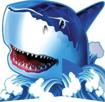 Shark Splash Table Centrepiece
