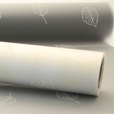 Cream Leaf Frosted Film (80cm x 50m)