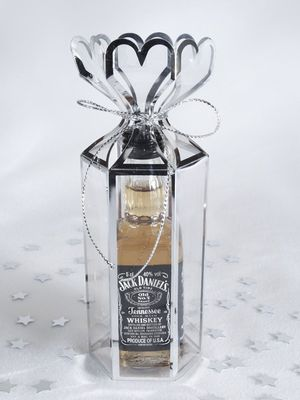 Silver Trimmed Lantern Favour Box