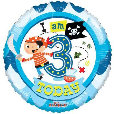 Pirate Age 3 Balloon