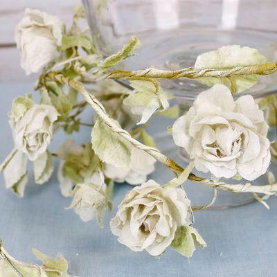 Cream Wired Rose Garland