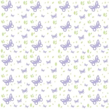 Butterflies Lilac/Green Film