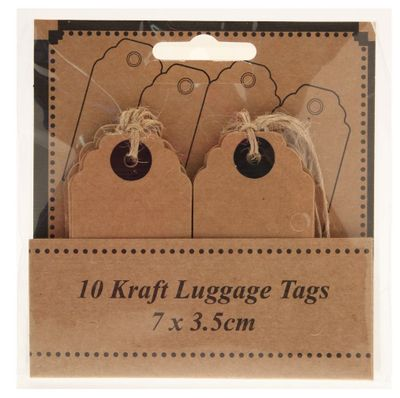 Kraft Luggage Tags 7 x 3.5cm