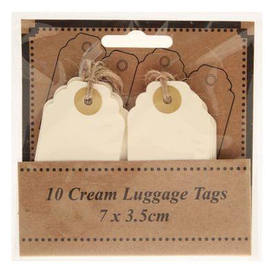 Cream Luggage Tags 7 x  3.5cm