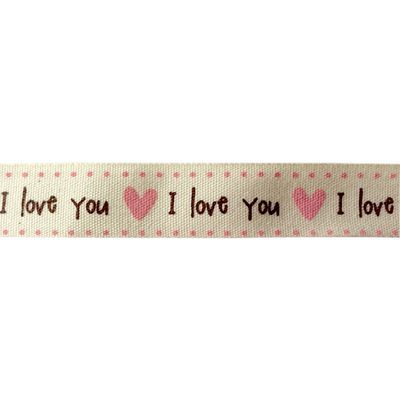 I Love You Pink Hearts Ribbon