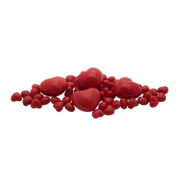 Red Plastic Hearts in Jar - 160g