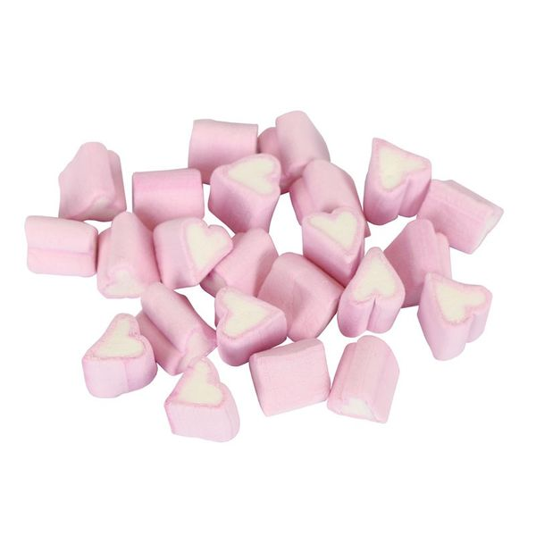 Pink and White Marshmallow Hearts