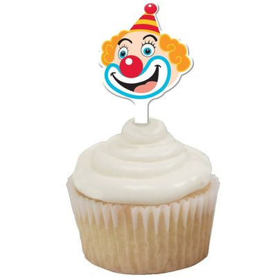 Big Top Circus Party Cupcake Toppers
