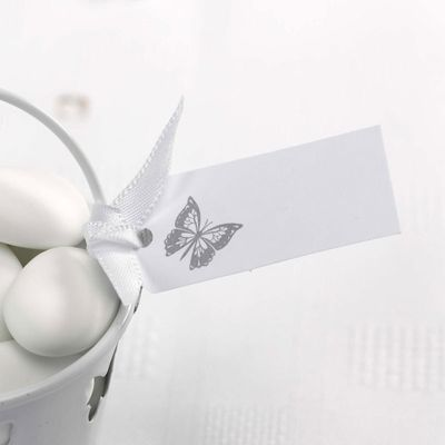 Silver Butterfly Favour Tags