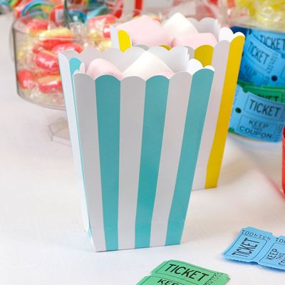 Blue Striped Treat Tubs