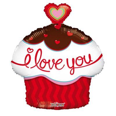 Cupcake Heart Love Balloon