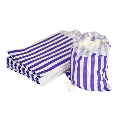 Purple Candy Stripe Bags
