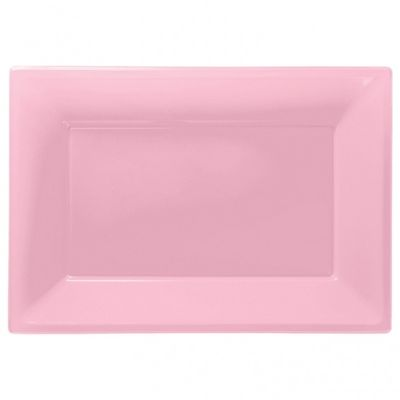 Light Pink Plastic Platter