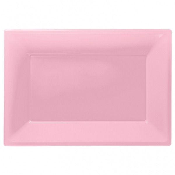 Light Pink Plastic Platter