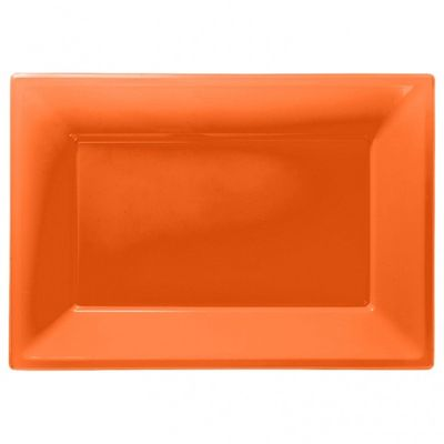 Orange Plastic Platters