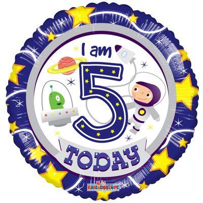 5th Birthday Astronaut Foil Balloon