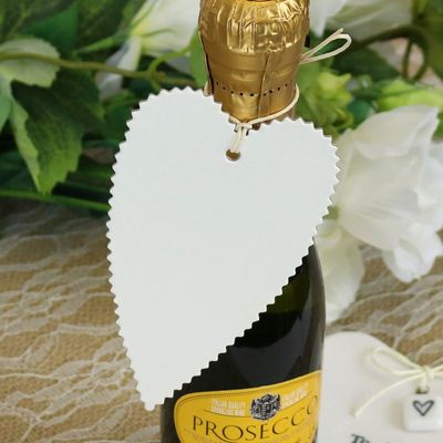 Cream Hearts Tag