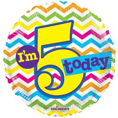 Im 5 Today Chevron Foil Balloon