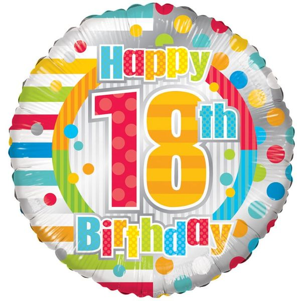 Radiant Happy 18th Birthday Foil Balloon