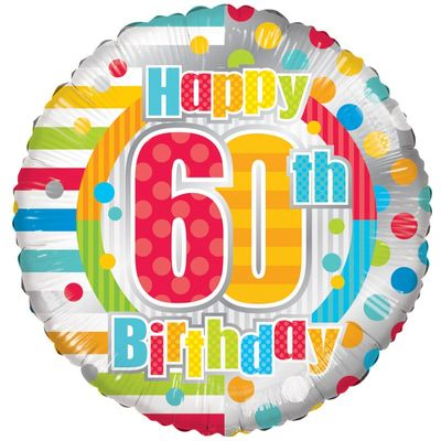 Radiant Happy 60th Birthday Balloon