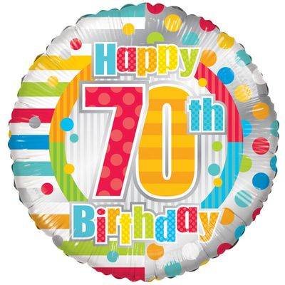 Radiant Happy 70th Birthday Balloon