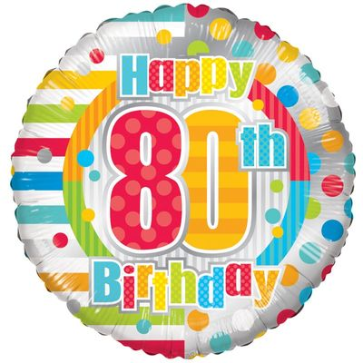 Radiant Happy 80th Birthday Balloon
