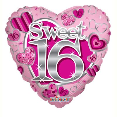Sweet 16th Birthday Heart Balloon