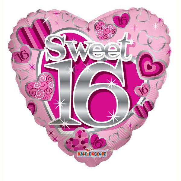 Sweet 16th Birthday Heart Balloon