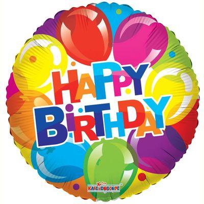 Happy Birthday Shiny Balloons