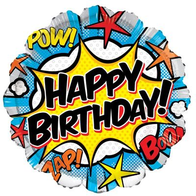 Happy Birthday Comic Balloon