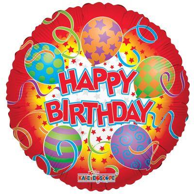Star Happy Birthday Foil Balloon