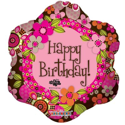 Happy Birthday Flower Balloon